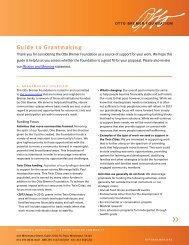 Guide to Grantmaking - Otto Bremer Foundation