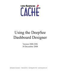 Using the DeepSee Dashboard Designer - InterSystems ...