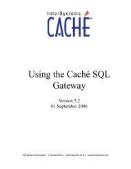 Using the Caché SQL Gateway - InterSystems Documentation