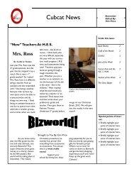 Cubcat News 11-28-12 - Henderson County Public Schools