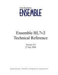 Ensemble HL7v2 Technical Reference - InterSystems Documentation
