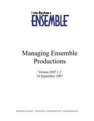 Managing Ensemble Productions - InterSystems Documentation
