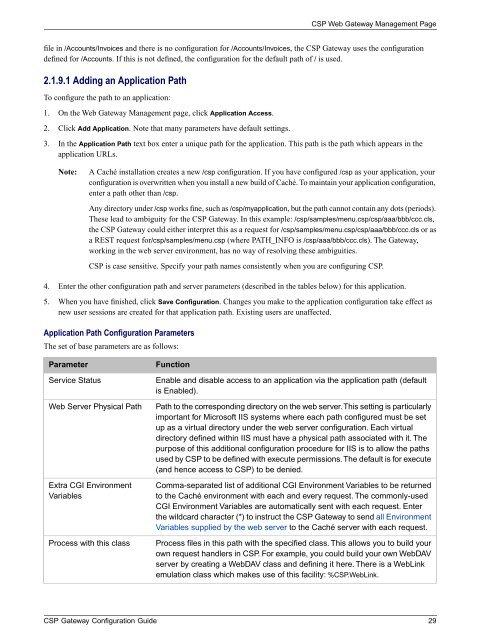 CSP Gateway Configuration Guide - InterSystems Documentation