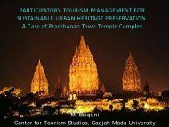 PARTICIPATORY TOURISM MANAGEMENT FOR SUSTAINABLE URBAN HERITAGE ...
