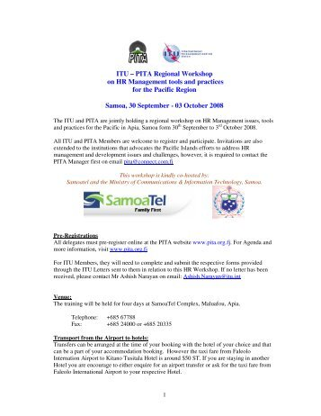 ITU – PITA Regional Workshop on HR Management tools and ...