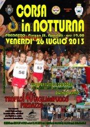 26 luglio corsa in notturna - US Dolomitica