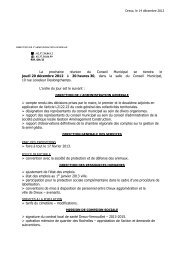 Ordre du jour du conseil municipal du jeudi 20 ... - Dreux.com