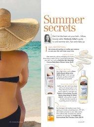 Summer beauty secrets - Kimberly Gillan