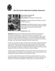 2012 AIA Central Valley Board Candidate Statements