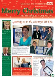 and thankyou everyone for... - Calderdale and Huddersfield NHS ...