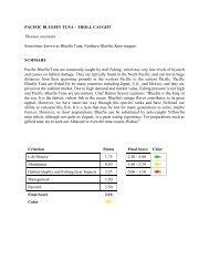 PACIFIC BLUEFIN TUNA – TROLL CAUGHT Thunnus orientalis ...