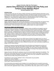 Campus Crime and Security Act Report - Argosy University