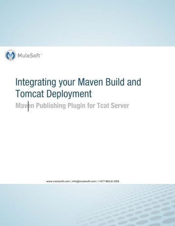 Integrating your Maven Build and Tomcat Deployment - MuleSoft