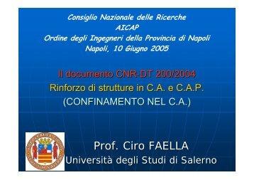Prof. Ciro FAELLA - DIST