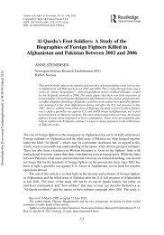 Al Qaeda's Foot Soldiers - Forsvarets forskningsinstitutt