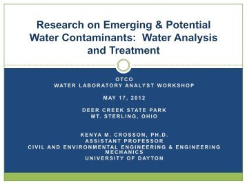 Water Analysis and Treatment - Ohiowater.org
