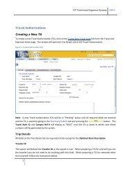Create New Travel Authorization