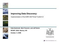 Improving Data Discovery - Northeast Arc Users Group