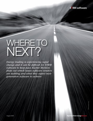Where to Next? - Triple Point Technology, Inc.