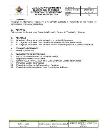 Control de Producto no Conforme - Comisión de Derechos ...