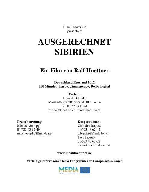 AUSGERECHNET SIBIRIEN Ein Film von Ralf - Luna Filmverleih