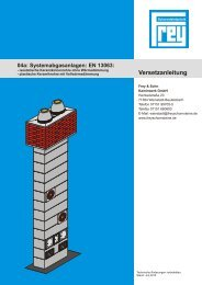 Versetzanleitung - Frey und Sohn Kaminwerke GmbH