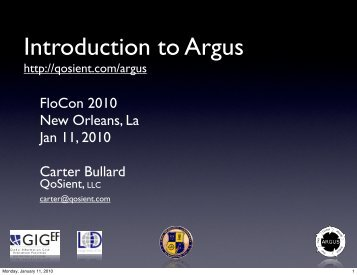 Introduction to Argus - Cert
