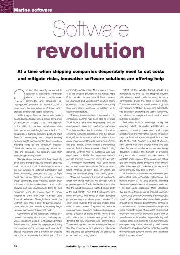 Software Revolution - Triple Point Technology, Inc.