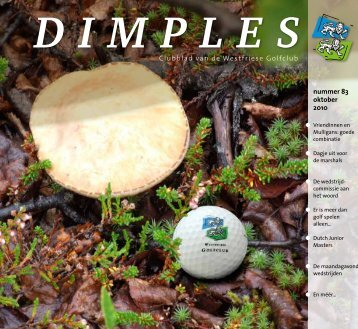 nummer 83 oktober 2010 Clubblad van de Westfriese Golfclub