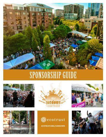 2013 Sponsor Guide - Ecotrust