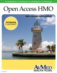 Large Group Open Access CareSelect brochure MP5683 - AvMed