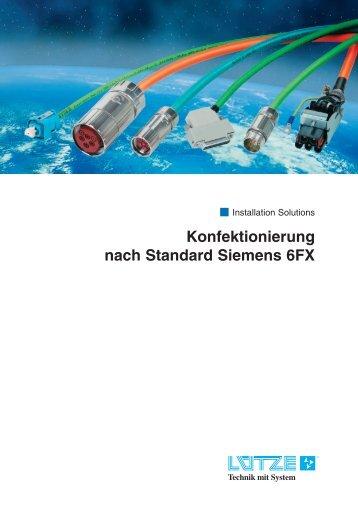 Konfektionierung nach Standard Siemens 6FX - Lutze, Inc.