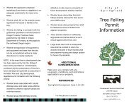Tree Felling Permit Information - City of Springfield