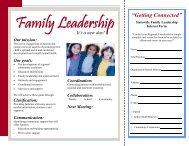 Family Leadership - Illinois Children's Mental Health Partnership