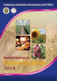 Tarım Sektörü 2008 - Tarımsal Ekonomik Araştırma Enstitüsü