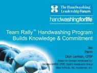 Team Rally - Handwashing for Life Foodservice
