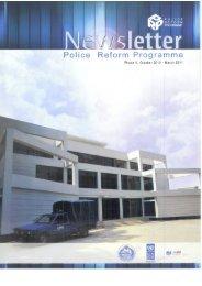 Newsletter -- October 2010-March 2011 - Police Reform Programme