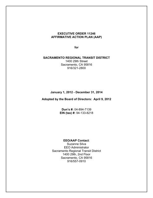 affirmative action executive order 11246 summary