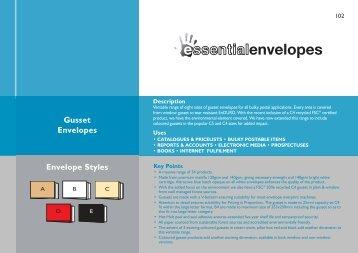 Gusset Envelopes Envelope Styles