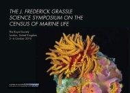 J. Frederick Grassle Science Symposium - Census of Marine Life