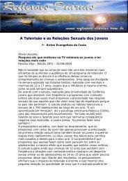 A Televisão e as Relações Sexuais dos Jovens - Reflexoes.diarias ...