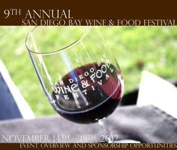 2012_SDBWFF_Sponsors.. - San Diego Bay Wine and Food Festival