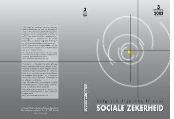 Nummer 3/2003 (.pdf) - FOD Sociale Zekerheid