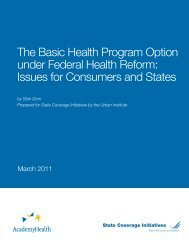 The Basic Health Program Option under Federal Health Reform ...