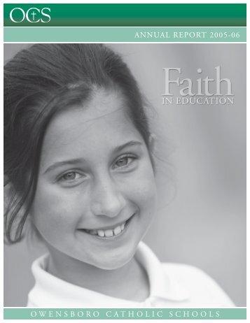 Annual Report 2005-2006 - Owensboro Catholic Schools