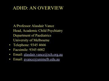 adhd: an overview