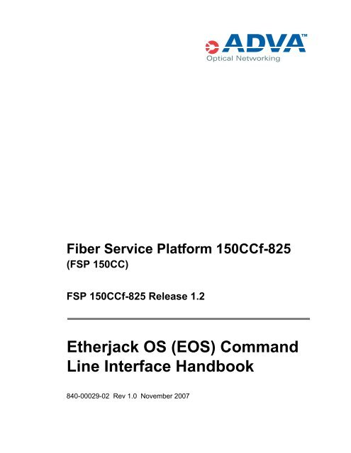 EOS Command Line Interface book - NoaNet