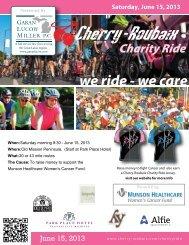 Saturday, June 15, 2013 we ride - we care - Cherry-Roubaix