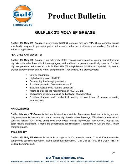 Gulflex 3% Moly EP-2 Grease - Gulf Lubricants