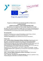 Programm und Zeitplan für das Vorbereitungstreffen im Rahmen von ...